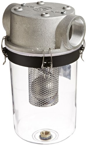 Solberg STS-250C See Through Liquid Separator, 2-1/2'' FPT Inlet/Outlet, 16-1/4'' Height, 9'' Diameter, 210 SCFM by Solberg