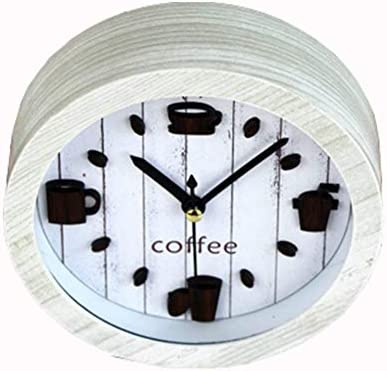 WALIZIWEI Reloj Despertador 3D Clásico Vintage Silencioso Cafetera ...