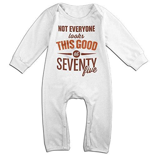 75th Birthday 1941 Birthday 75th Birthday GiftsBaby Long Sleeve Jumpsuit Humorous