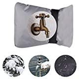 lotus.flower Outdoor Faucet Cover Insulated Garden Faucet Socks for Winter Freeze Protection Water Resistance (Gray)