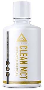 CLEAN MCT - 100% Pure C8 Caprylic Acid MCT Oil - Instantly Converts into Ketones - Most Ketogenic Medium Chain Triglycerides - Keto Paleo Vegan - 16oz