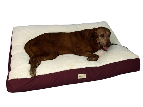 Dog Mat in Burgundy & Ivory