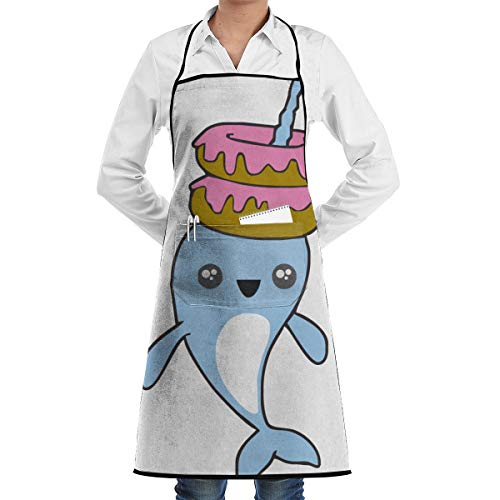 KasaBlaro Kitchen Aprons for Women with Pockets Fake Unicorn Printed Chef Cooking Apron Bib Aprons for Men Chef - Waterpoof from KasaBlaro