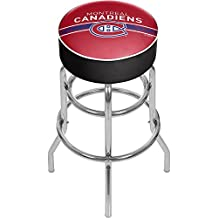 Trademark Gameroom NHL Chrome Bar Stool with Swivel-Montreal Canadiens