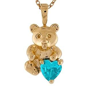 Amazon.com: Jewelry Liquidation 10k Gold Heart Simulated
