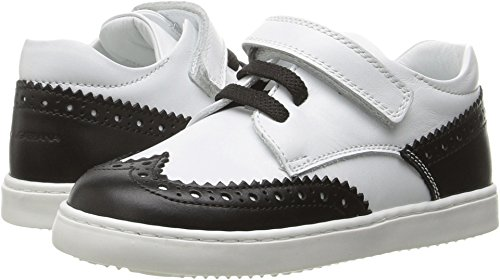 Dolce & Gabbana Kids Baby Boy's First Step Wingtip Sneaker (Toddler) White/Black Oxford by Dolce & Gabbana