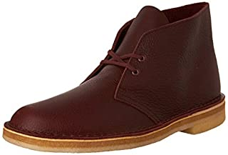 CLARKS Men's Desert Boot Burgundy Tumbled Leather Boot (B01JM4EAZU) | Amazon price tracker / tracking, Amazon price history charts, Amazon price watches, Amazon price drop alerts