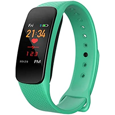 TGRR Smart Wristband Heart Rate Monitor Blood Pressure Monitor Waterproof IP67 Multifunction Monitor Call Reminder Calorie Counter Sleep Tracker Estimated Price -