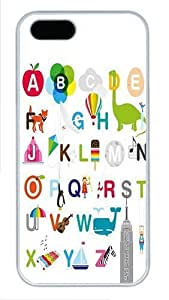 26 Letters Of The Alphabet Custom Hard Case Cover for iPhone 5s and iPhone 5 - Polycarbonate - White