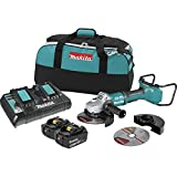 """Makita XAG12PT1-R 18V X2 LXT Lithium-Ion (36V) Brushless Cordless 7"""" Paddle Switch Cut-Off/Angle Grinder Kit, with Electric Brake (5.0Ah) (Renewed)"""