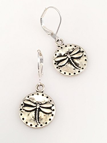 Dragonfly Earrings (Antiqued Pewter Dragonfly Earrings)