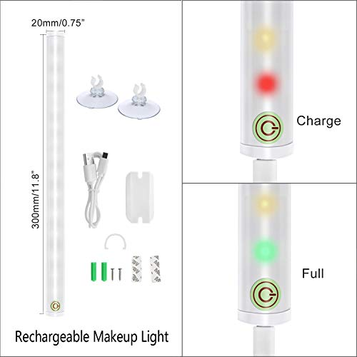 LED Mirror Lights, Portable Vanity lights | Simulated Daylight | 4 Brightness Level Touch Control | Rechargeable,Cordless Makeup Lights. by BESTCAN (Image #3)