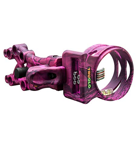 TRUGLO Carbon XS Xtreme Ultra-Lightweight Carbon-Composite Bow Sight, Realtree APC Pink Camo ()