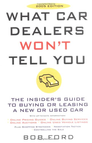 What Car Dealers Won't Tell You (2005 Edition): Revised Edition