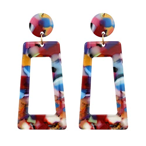 CCFAMILY Personality Creative Acetate Plate Geometry Long Square Earrings Ladies Jewelry