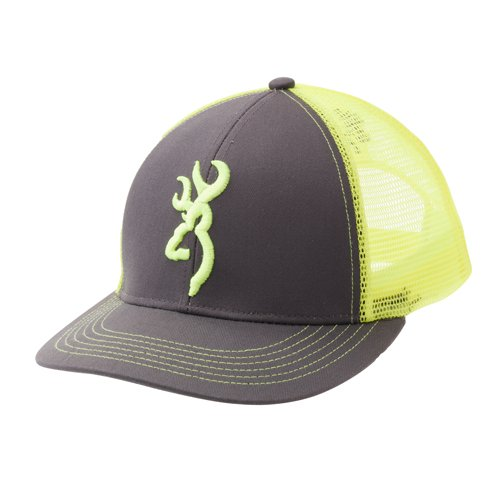(Browning 308177541 Flashback Cap, Charcoal/Neon)