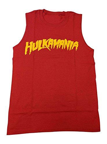 Hulk Hogan Hulkamania Sleeveless Mens Red Muscle T-Shirt ()