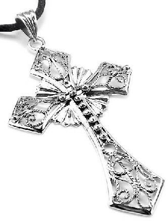 Amazon large 3 sterling silver open filigree celtic cross amazon large 3 sterling silver open filigree celtic cross pendant with a 19 cord necklace jewelry aloadofball Image collections