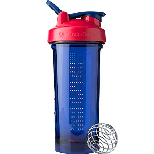 - BlenderBottle C04207 Pro Series Patriotic Shaker Bottle, 28oz, USA Stars