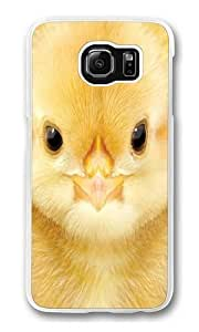 Big Face Baby Chick Polycarbonate Hard Case Cover for Samsung S6/Samsung Galaxy S6 Transparent