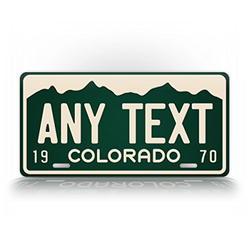 "Vintage Colorado State License Plate Custom Antique CO Auto Tag RETRO replica ""ANY TEXT!"" Personalized Plate Sign"