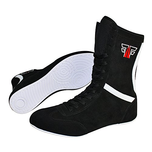 boots black box boxing shoes boxing leather black hog Fox boxing boser shoes Fight boots cagOqPw4