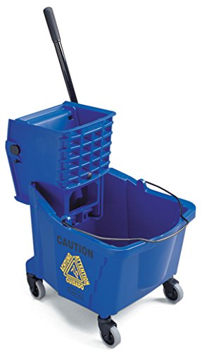 Wavebrake 35 Quart Bucket (Rubbermaid Commercial WaveBrake Side Press Combo High-Performance Mopping System, 35-Quart Capacity, 20.1-Inch Length x 15.7-Inch Width x 36.5-Inch Height, Blue (FG758888))