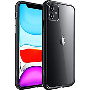 Mkeke Compatible with iPhone 11 Case, Clear Cover for 6.1 Inch Black