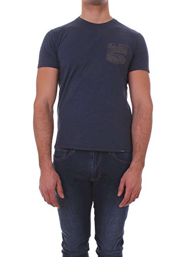 Tee Blue Pocket C Fit Cotton Blu Regular neck 100 3731 Woolrich Vintage Wotee1104 tqwIPaE