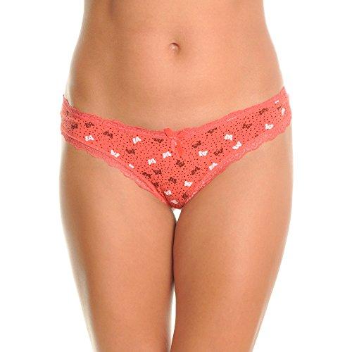 Angelina Women's Cotton Brazilian Cut Bikini Panties with Butterfly Print (6-Pack), G6232_S