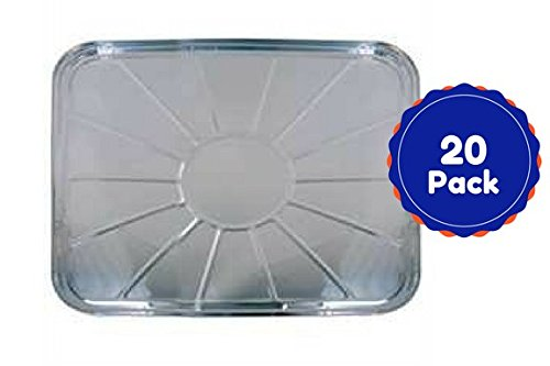 Disposable Aluminum Foil Oven Liners For Bottom Of Oven Set Of 20 Count 18.5 X 15.5 Inches Bulk ()