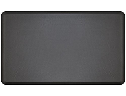 "NewLife by GelPro Anti Fatigue Mat: Eco-Pro Foam Anti-Fatigue Comfort Mat - Standing Desk Pad - Professional Floor Mats for Commercial & Industrial Work - 18"" x 30"" Non Slip Ergonomic Mat - Black by NewLife by GelPro (Image #5)"