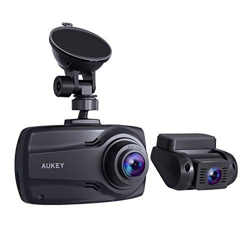 Aukey 1080P Doble de dashcam con Pantalla DE 2,7 Pulgadas, Frontal ...