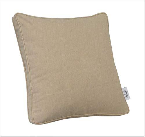 RSH Décor Indoor ~ Outdoor Decorative Square Box Throw Pillow Made of Sunbrella Linen Antique - Beige Linen Antique