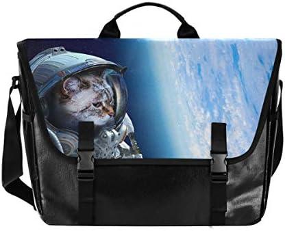 メッセンジャーバッグ メンズ 宇宙 猫柄 雲柄 斜めがけ 肩掛け カバン 大きめ キャンバス アウトドア 大容量 軽い おしゃれ
