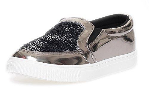 A.E. Women's Loafer Flats Grey