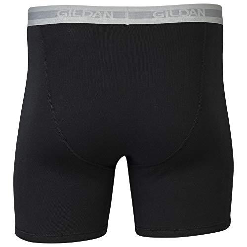 Mixed Blue//Grey 5 Pack Gildan mens Regular Leg Multipack Boxer Briefs X-Large