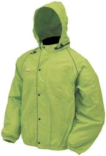 (Frogg Toggs Unisex-Adult High Visibility Road Toad Rain Jacket (Green, Medium))