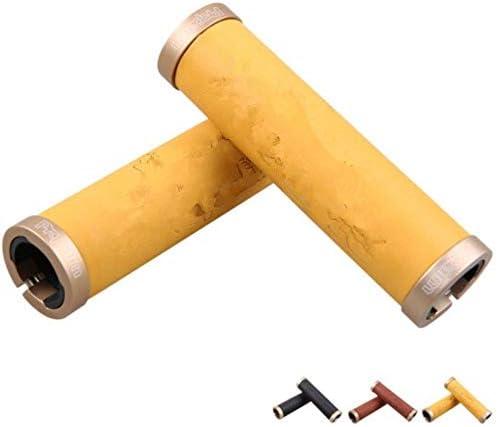 自転車のハンドルグリップ 自転車のハンドルバーのためのロック可能なハンドル固定グリップ 握りやすい (Color : Brass, Size : Free size)