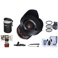 Rokinon 12mm f/2.0 NCS CS Manual Focus Lens Fuji X Mirrorless Cameras Bundle With 67mm Filter Kit, Lens Case, Cleaning Kit, Capleash II, Lenspen Lens Cleaner, Mac Software Package