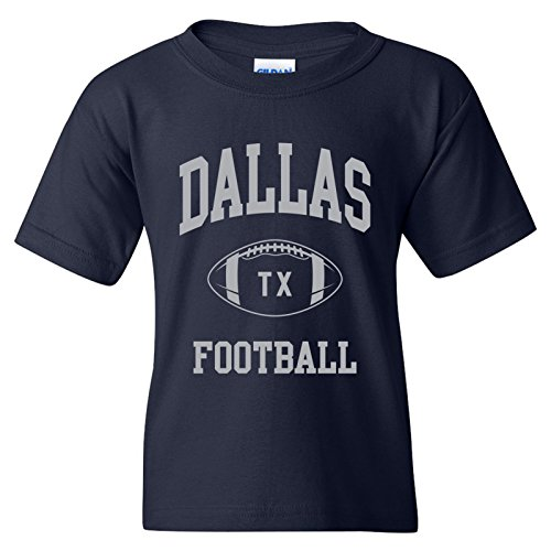 - Dallas Classic Football Arch American Football Team Sports Youth T Shirt - X-Large - Navy