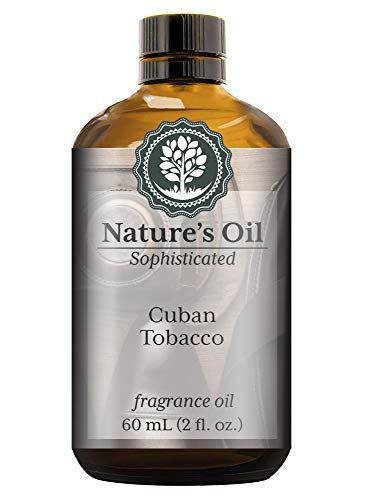 (Cuban Tobacco Fragrance Oil (60ml) For Cologne, Beard Oil, Diffusers, Soap Making, Candles, Lotion, Home Scents, Linen Spray, Bath Bombs)
