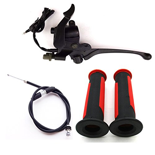 TC-Motor Alloy Thumb Throttle Accelerator Assembly Brake Lever + Handle Grips + Cable For Chinese ATV Quad 4 Wheeler 50cc 70cc 90cc 110cc 125cc 150cc 200cc 250cc