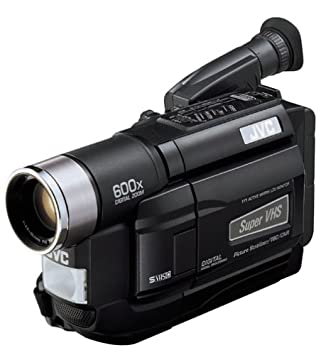 Jvc gr-ax1010 compact vhs-c camcorder bundle 140x digital zoom bag.
