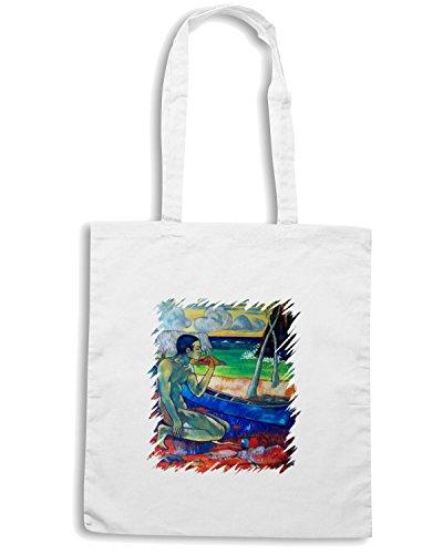 T-Shirtshock - Bolsa para la compra TDA0008 gauguin71 povero pescatore Blanco