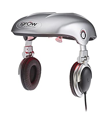 iGrow Hands-Free Laser LED Light Therapy for Hair Regrowth Rejuvenation, FDA-Cleared Hair Loss, Balding and Thinning for Men and Women with Built-In Headphones, Improves Thickness, Volume, Density