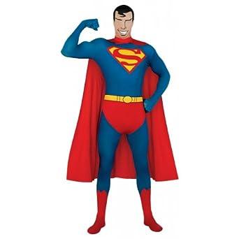 Superman Skin Suit Costume for Adults  sc 1 st  Amazon.com & Amazon.com: Superhero 2nd Skin Full Body Suit Adult Costume Superman ...