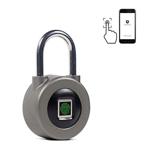 Joyzy Fingerprint Bluetooth Padlock Metal Keyless Gym Lock