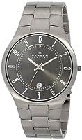Skagen Men's 801XLTXM Grenen Quartz 3 Hand Date Titanium Gray Watch from Skagen