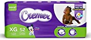 Fralda Cremer Disney, XG, Hiper, pacote de 52